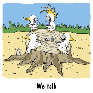 We talk